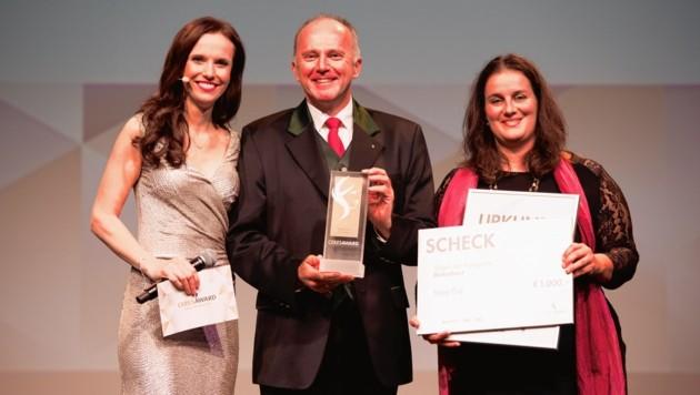 """Sepp Eisl bei der Verleihung des """"CeresAwards"""" in Berlin."""