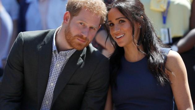Prinz Harry und seine Meghan (Bild: AP)