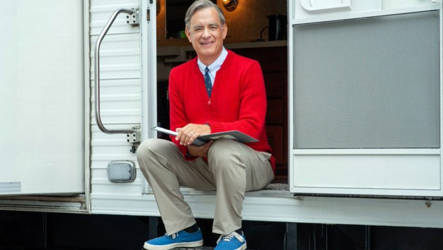 "Tom Hanks am Set seines Films ""Mr. Rogers"" (Bild: www.PPS.at)"