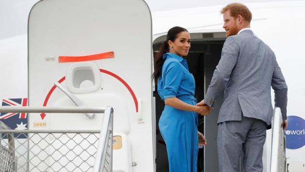 Prinz Harry und seine Meghan vor dem Abflug vom Inselkönigreich Tonga