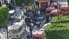 Das Zentrum von Tunis nach dem Anschlag (Bild: AFP)