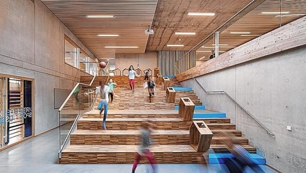 Volksschule Algersdorf - Beispiel für sehr gelungenen Schulausbau in Graz. (Bild: Stadt Graz)