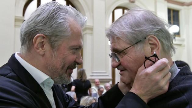 Festredner Peter Turrini (re.) und Josefstadt-Direktor Herbert Föttinger (li.)