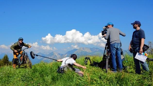 Actionreiche Mountainbike-Szenen wurden unter anderem im Alpbachtal gedreht. (Bild: Andreas Fischer)