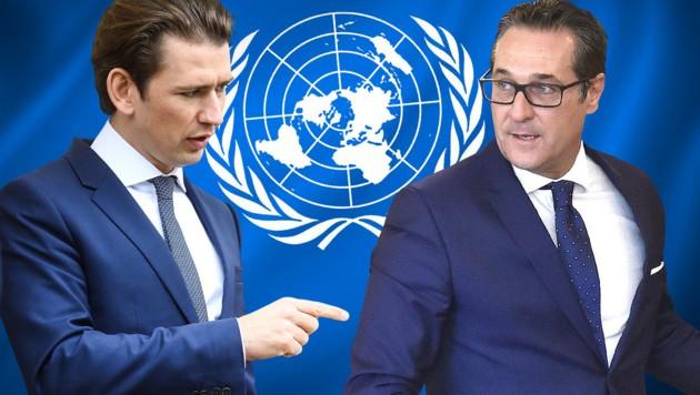 (Bild: United Nations, APA/BKA/ARNO MELICHAREK, APA/HANS PUNZ, stock.adobe.com, krone.at-Grafik)