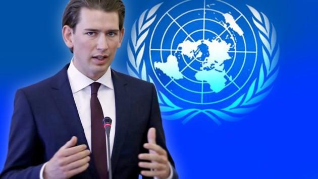 (Bild: EPA/ABEDIN TAHERKENAREH, United Nations, krone.at-Grafik)