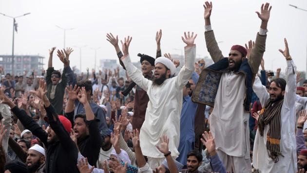 Der Freispruch von Christin Asia Bibi sorgte in Pakistan für Proteste. (Bild: AFP or licensors)