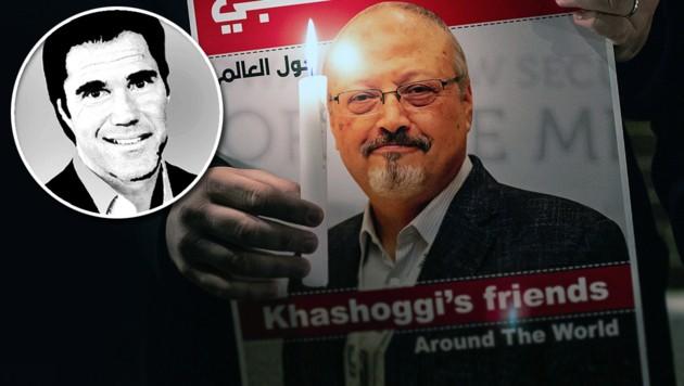 Krone-Kolumnist Tassilo Wallentin schreibt über die Scheinheiligkeit des Westens nach dem Mord an Jamal Khashoggi. (Bild: AFP, krone.at-Grafik)
