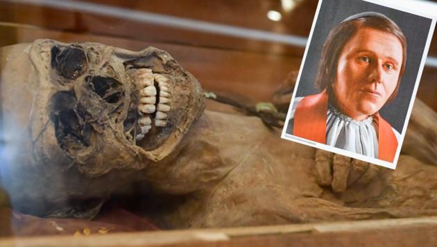 Das Rätsel um die Mumie von St. Thomas am Blasenstein ist gelöst. Eine Gesichtsrekonstruktion ergab, dass sich vermutlich um Franz Xaver Sydler von Rosenegg handelt. (Bild: © Harald Dostal)