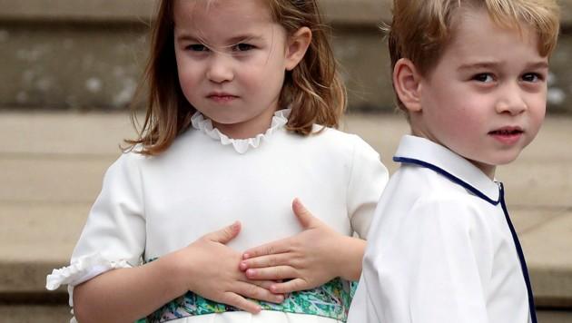 Prinzessin Charlotte und Prinz George (Bild: APA/AP)