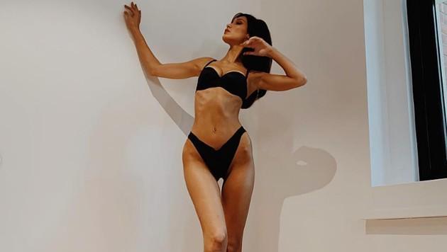 Bella Hadid zeigte unlängst auf Instagram Knochen statt Kurven. (Bild: instagram.com/bellahadid)