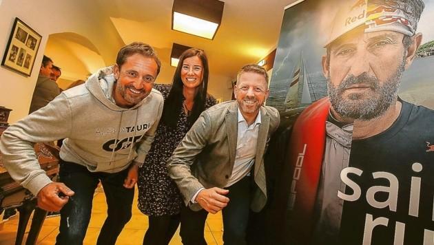 Salzburger Nockerln, neuer Film Sail & Run von Schalle im Mozartkino - Christian Schiester, Barbara Bärnthaler und Günther Mitterhuber (Bild: Markus Tschepp)