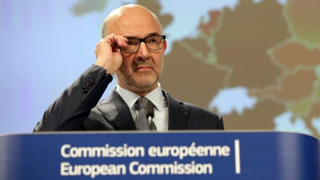EU-Wirtschafts- und -Währungskommissar Pierre Moscovici (Bild: ASSOCIATED PRESS)