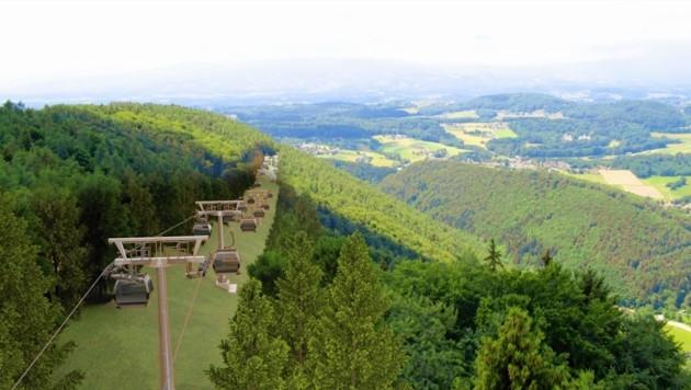 Für die Plabutsch-Seilbahn müssen ca. sieben Hektar Wald weichen.