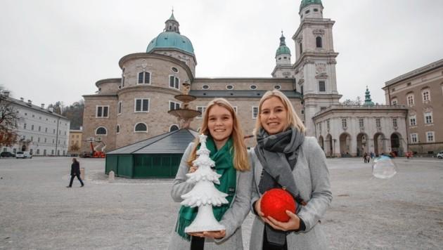 Anna und Lisa freuen sich schon auf die weihnachtliche Stimmung