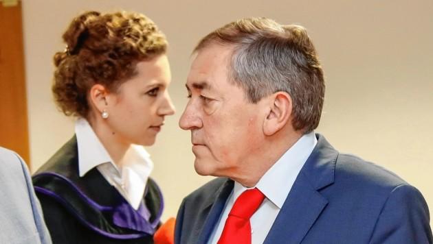 Richterin Anna Sophia Geisselhofer und Ex-Bürgermeister Heinz Schaden