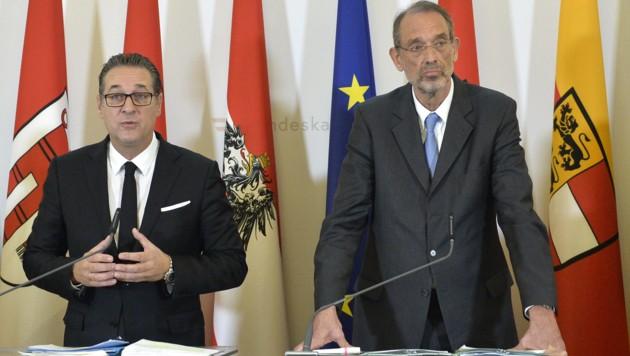 Vizekanzler Heinz-Christian Strache (FPÖ) und Bildungsminister Heinz Faßmann (ÖVP)