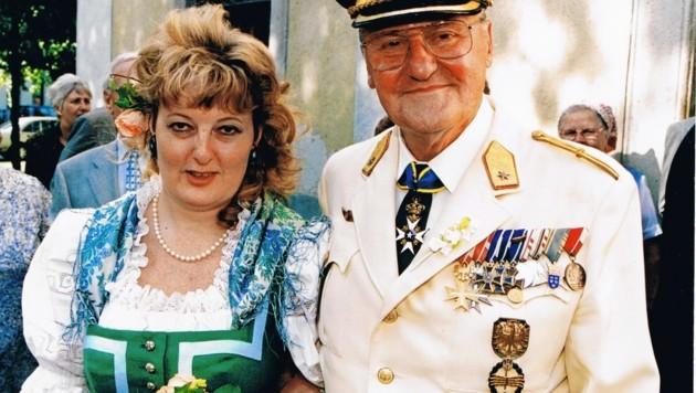 Bild: Alfred Nagl bei seiner Hochzeit mit Dr. Ingrid Schramm (Bild: Ingrid Schramm)