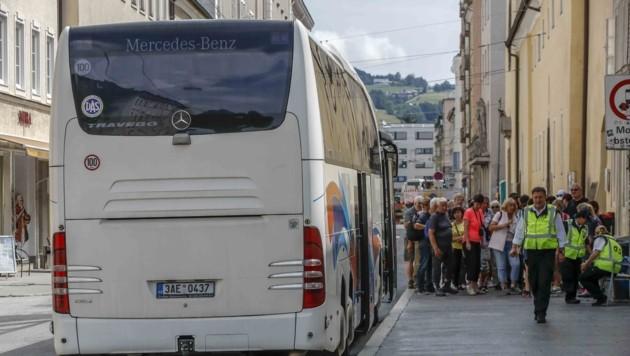 Die Bürgerliste stellt den Terminal in der Paris-Lodron-Straße abermals zur Diskussion. (Bild: Tschepp Markus)