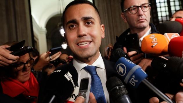 """""""Die Haushaltsziele für das kommende Jahr änderten sich nicht"""", erklärte Vize-Premierminister Luigi Di Maio. (Bild: AP)"""