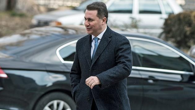 Nikola Gruevski gelang ohne gültige Papiere eine Flucht über mehrere Staatsgrenzen. (Bild: APA/AFP/Robert ATANASOVSKI)