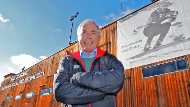 In St. Anton trägt das Zielstadion der WM 2001 den Namen von Karl Schranz.