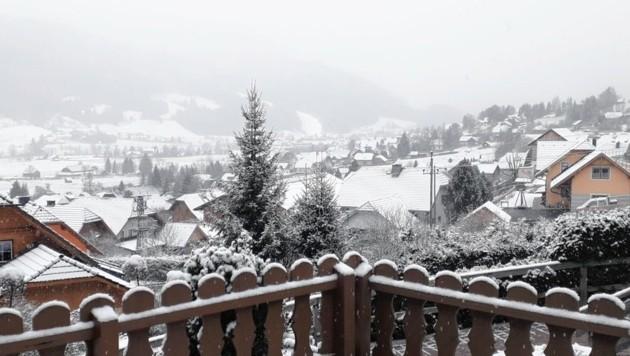 St. Michael (hier die Katschberghöhe) präsentierte sich am Montag verschneit.