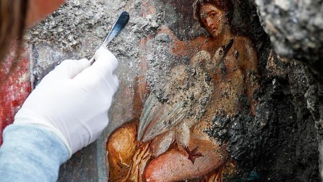 Fresko zeigt Göttervater Zeus als Schwan beim Sex