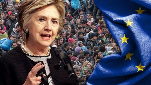 Hillary Clinton rät Europa, Migration zu drosseln