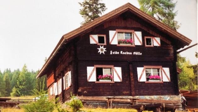 Die Frido Kordon Hütte auf der Sonnalm unterhalb des Stubecks