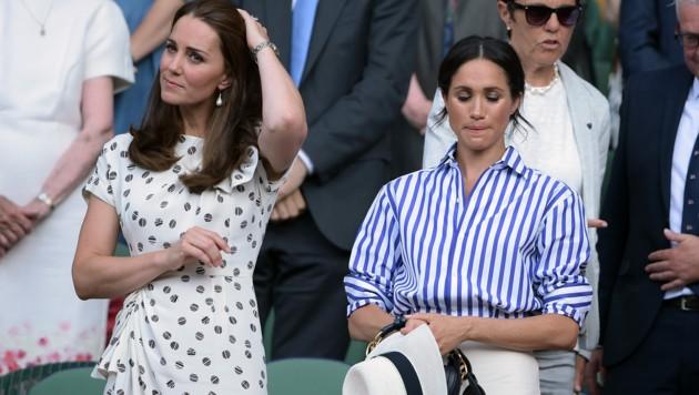 Herzogin Kate und Herzogin Meghan beim Tennisturnier in Wimbledon (Bild: James Veysey / Camera Press / picturedesk.com)