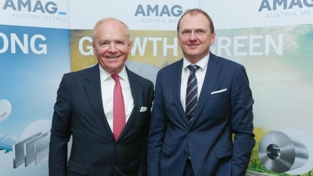 Gerald Mayer (r.) folgt im März 2019 Helmut Wieser als Vorstandschef nach.