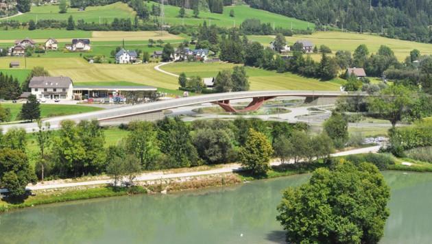 So soll der Knoten Trautenfels nach dem Umbau aussehn. (Bild: Land Steiermark)