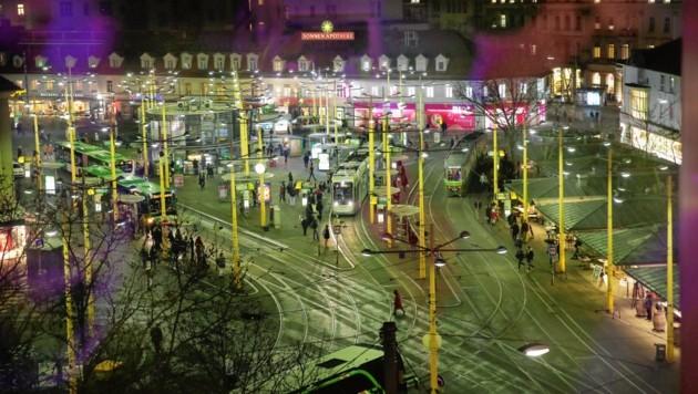 Der Grazer Jakominiplatz (Bild: Kronen Zeitung)