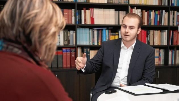 Gabriel Karas im Gespräch mit Conny Bischofberger (Bild: JAY KAN PHOTOGRAPHY)