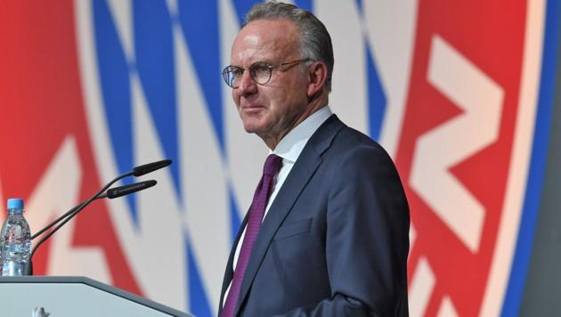 Bayern-Boss Rummenigge greift in der Rassismus durch. (Bild: APA/AFP/Christof STACHE)