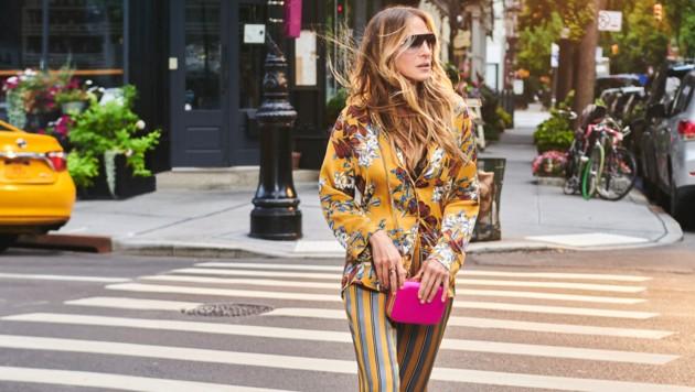 Sarah Jessica Parker liebt den Pyjama-Look auch im Alltag. (Bild: Intimissimi)