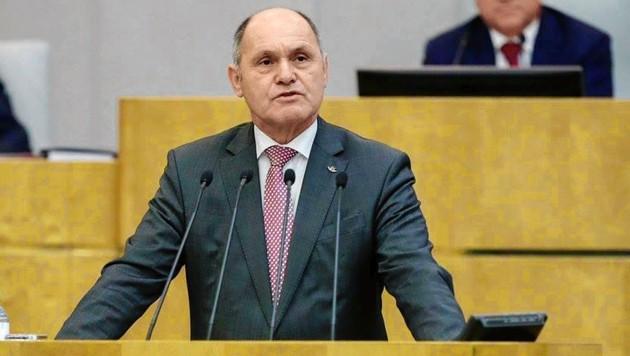 Wolfgang Sobotka bei seiner Rede vor dem Plenum der Staatsduma (Bild: www.duma.gov.ru)
