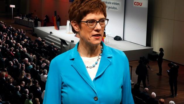 Kramp-Karrenbauer mit 51,7% zur CDU-Chefin gewählt