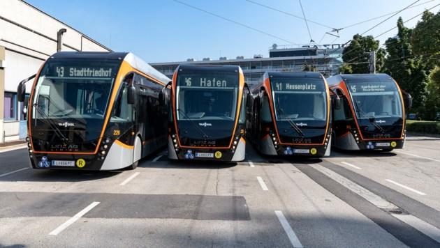 Obus, 24-Meter, Doppelgelenkbus; LAG-Center, 20.09.2018; Foto: Guenther Groeger ©grox, Kultur- & Pressefotograf; www.groxpressimages.at (Bild: ©LinzAG/groxpressimages.at)
