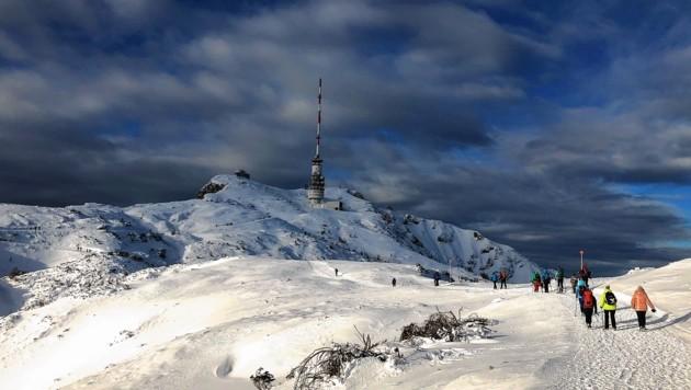 Der Naturpark Dobratsch ist auch im Winter ein beliebtes Bergziel (Bild: Wallner Hannes/Kronenzeitung)