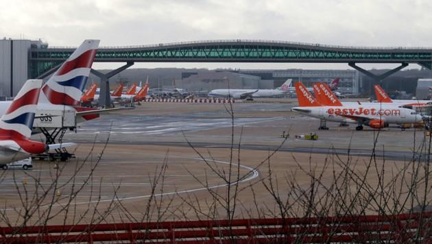 Der Flughafen London-Gatwick (Bild: Associated Press)
