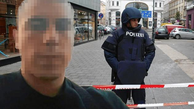 """Das Schussattentat-Opfer Stefan V. sollte zum Tatzeitpunkt eigentlich in einer Zelle sitzen. (Bild: """"Krone"""", APA/Georg Hochmuth, krone.at-Grafik)"""