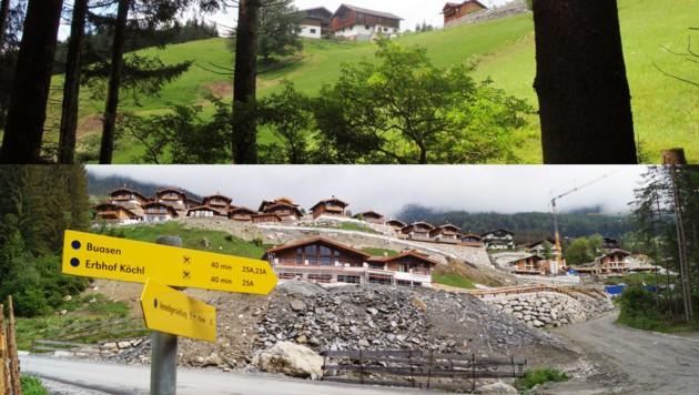 Unsere Kulturlandschaft ist ständigem Wandel unterworfen, wie etwa im Oberpinzgau, wo ein Bauernhof einer Chaletsiedlung Platz gemacht hat. (Bild: privat)