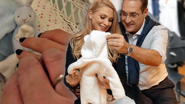 Vizekanzler Heinz-Christian Strache ist einer der wenigen Väter, die nach der Geburt eines Kindes einen Papamonat antreten. (Bild: Reinhard Holl, facebook.com, krone.at-Grafik)