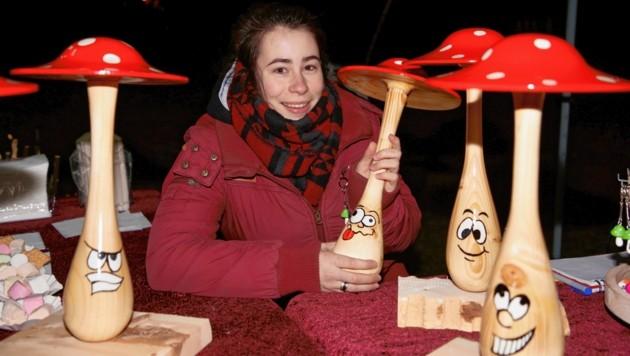 Auch die Familie Liskowetz aus Lambichl war mit ihrem Kunsthandwerk aus Holz vertreten (Bild: Evelyn Hronek Kamerawerk)