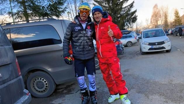 Peter Schwarzenbacher mit Rennläufer Felix Neureuther (Bild: Peter Schwarzenbacher)