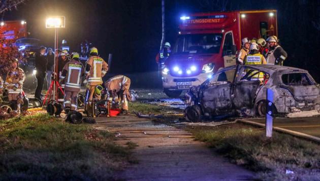 Bei diesem Crash starben fünf Menschen. (Bild: twitter.com)