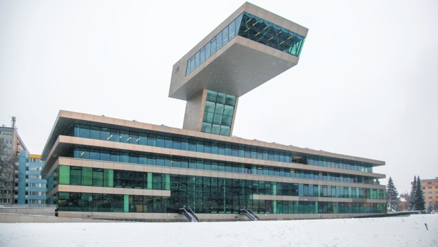 """Die """"Neue Mitte Lehen"""" mit der Stadt:Bibliothek (Bild: Doris Wild)"""