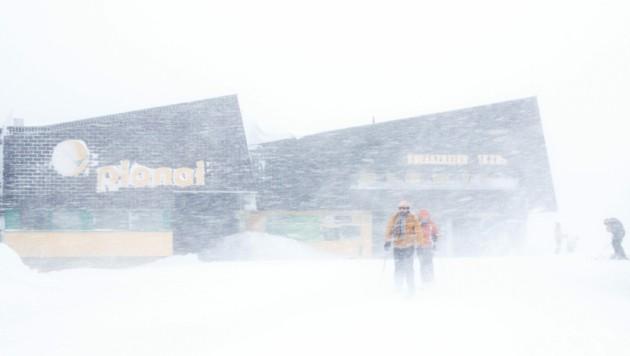 Bei der Bergstation der Seilbahn auf der Planai in Schladming (Bild: APA/EXPA/MARTIN HUBER)